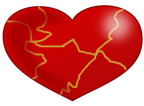 Kintsugi Heart by j4p4n