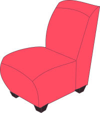 Clipart - Red armless chair