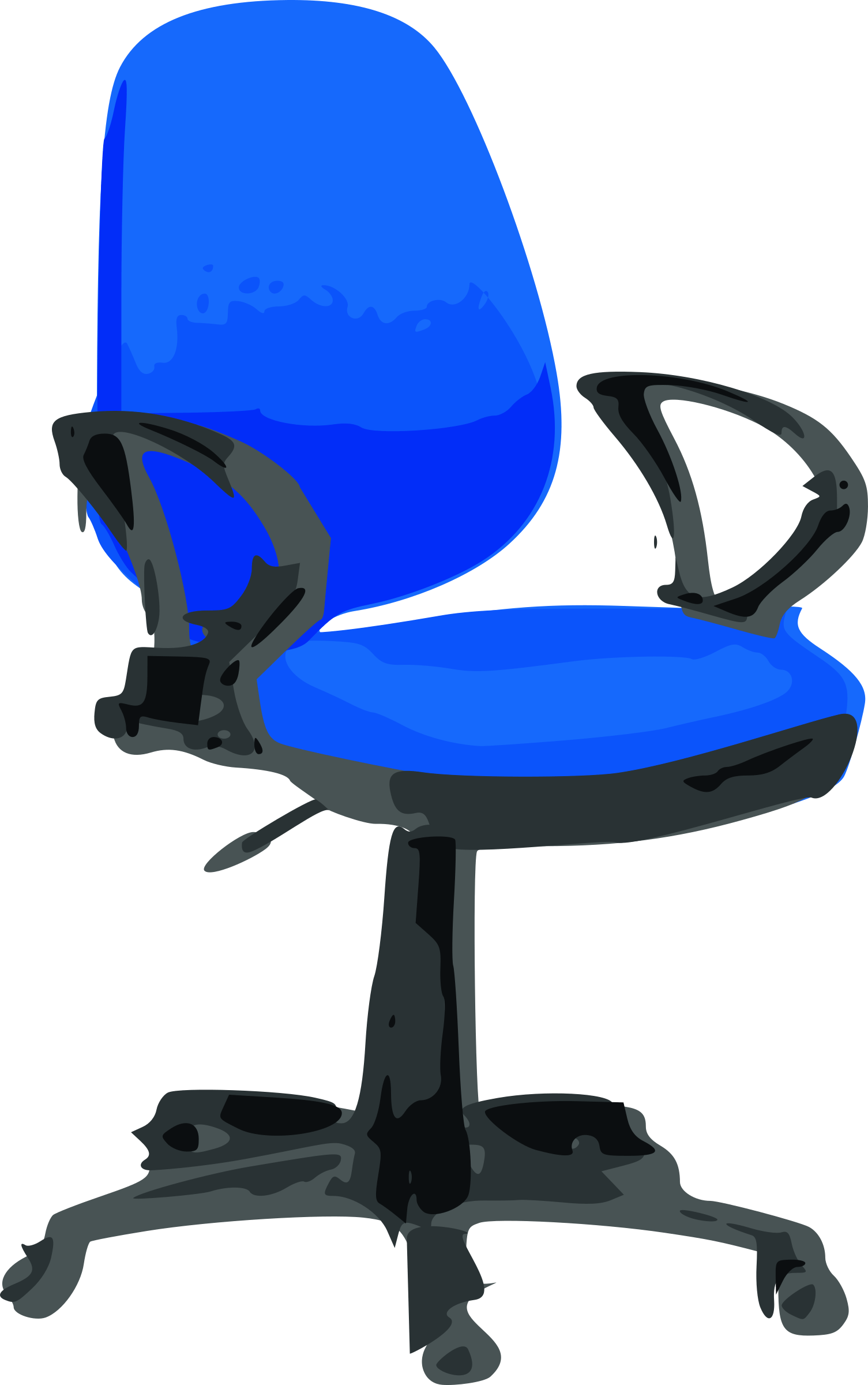 Blue Computer Chair Clipart Desk Chair Blue With Wheels