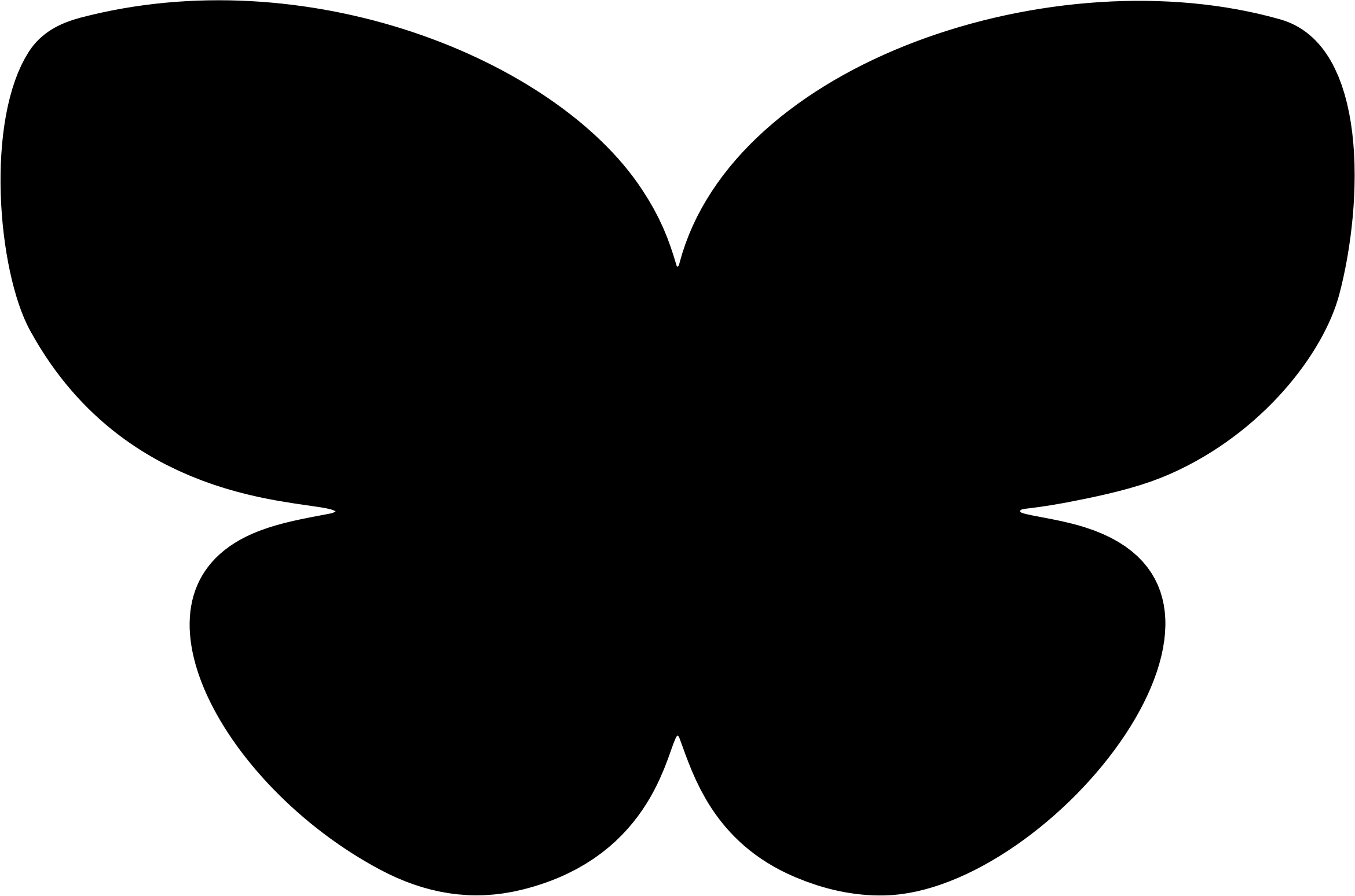 Clipart Simple Butterfly Silhouette