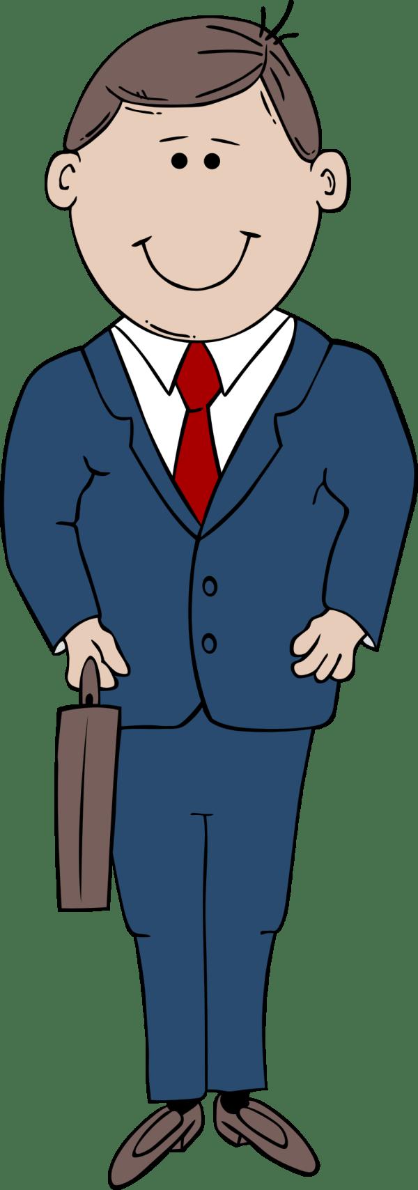 clipart - man in suit