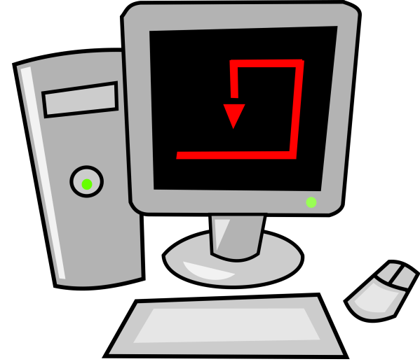 Cartoon Computer Clip Art