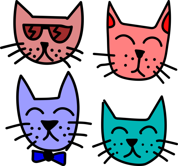 Clipart Graffiti Cats by Rones