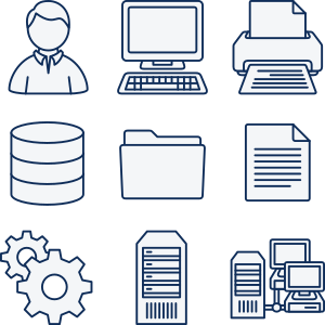 Clipart Computer Network Icons
