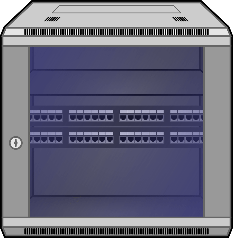 wall mounted network rack openclipart