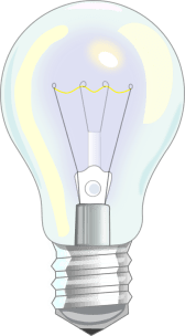 Light Bulb by fabiovaleggia - a realistically drawn light bulb with yellowish high lights.
