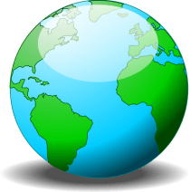 A simple globe by jhnri4 - A simple globe made in Inkscape.