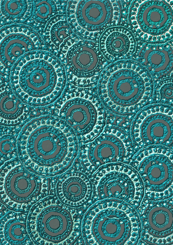 Clipart  Teal Circle Pattern Scrapbook Paper
