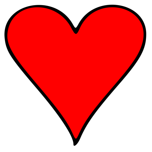 clipart - outlined heart playing
