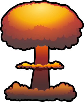 nuclear explosion by tzunghaor - atomic bomb, bomb, clip art, clipart, explosion, explosive, mushroom cloud, nuclear, nuke, weapon,