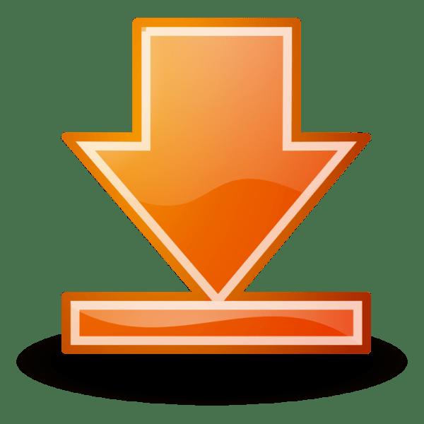 clipart - bottom orange button