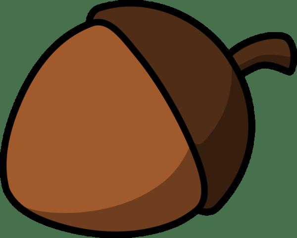 clipart - cartoon acorn