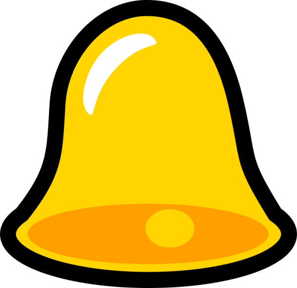 yellow bell icon cool