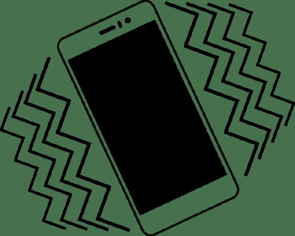 Clipart Vibrating smartphone