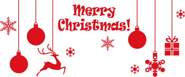 clipart - merry christmas ornamental