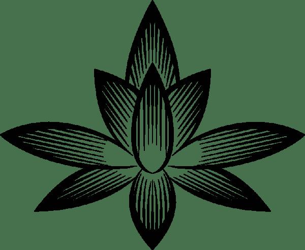 Clipart Stylized Flower Silhouette