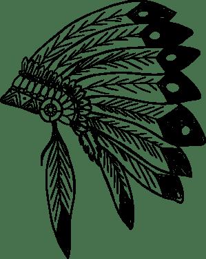 native american headdress trace svg clipart