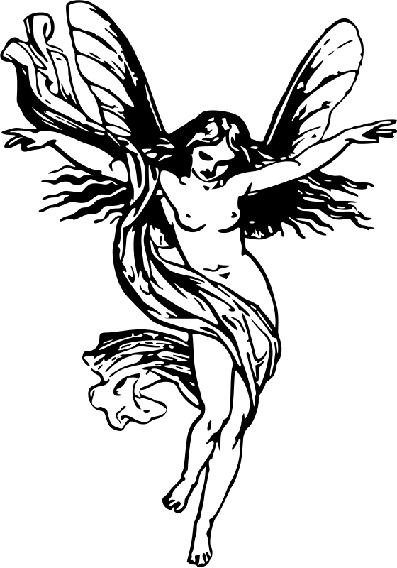 Clipart Winged Lady