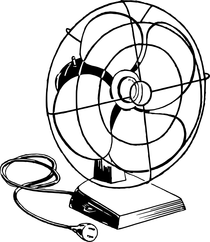 Fan Clipart Black And White