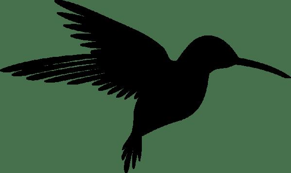 clipart - hummingbird silhouette