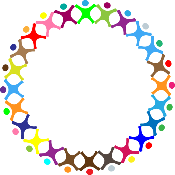 clipart - abstract people circle