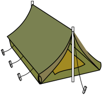 Clipart - military style tent