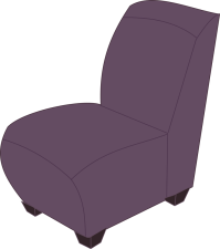 Clipart - Purple armless chair
