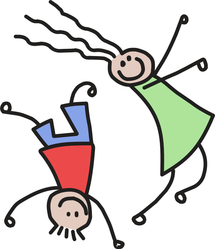 Download Clipart - Kids Playing Remix