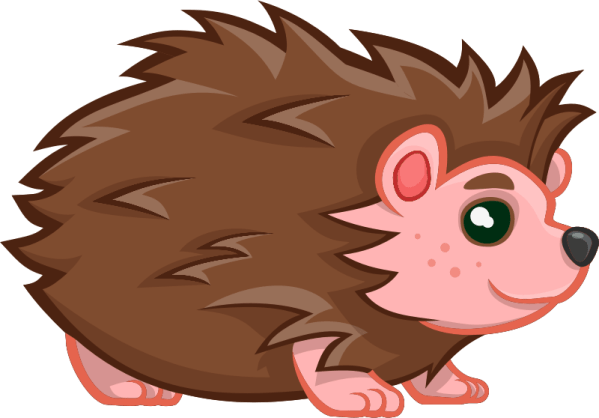 clipart - baby hedgehog
