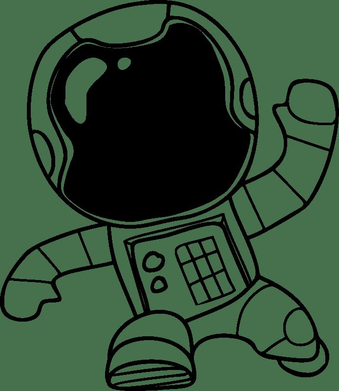 Astronaut Clipart Drawn