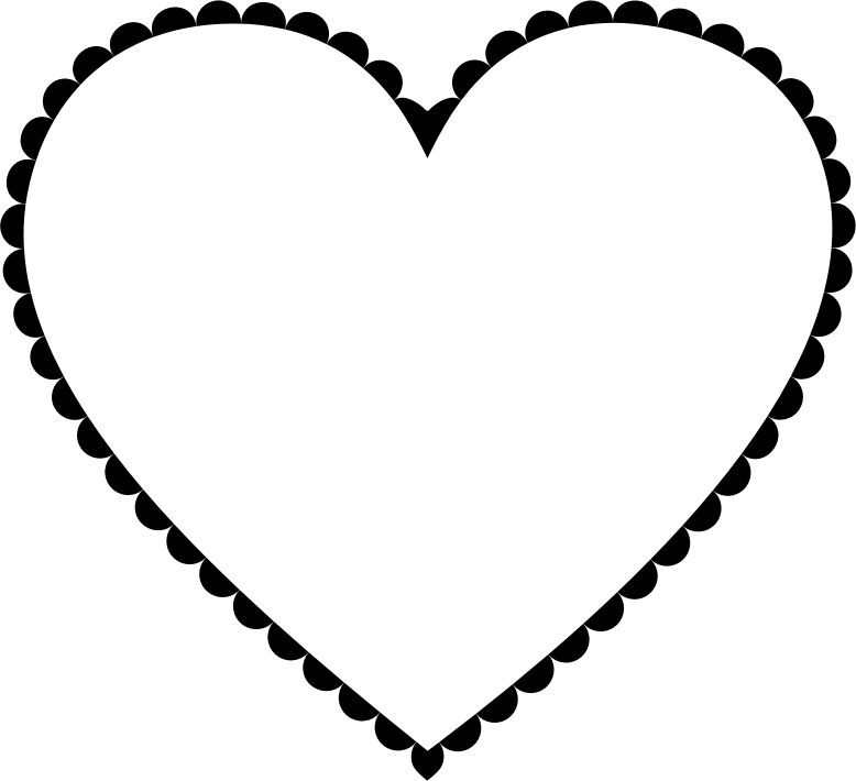 Clipart Simple Decorated Heart