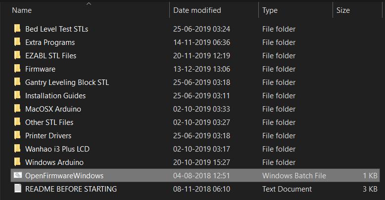 Windows batch file location.