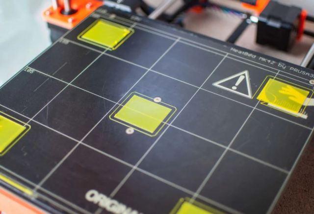 Calibration squares printed..