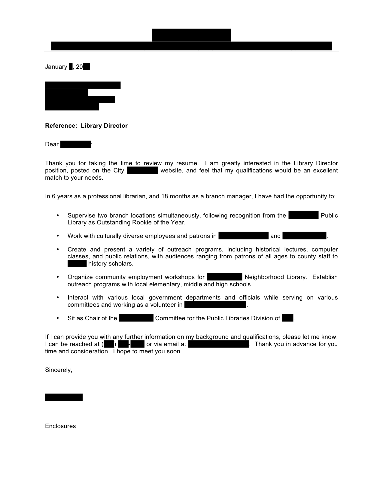 Arts Administration Cover Letter Examples