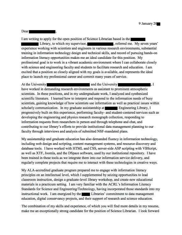Phd Cover Letter Sample