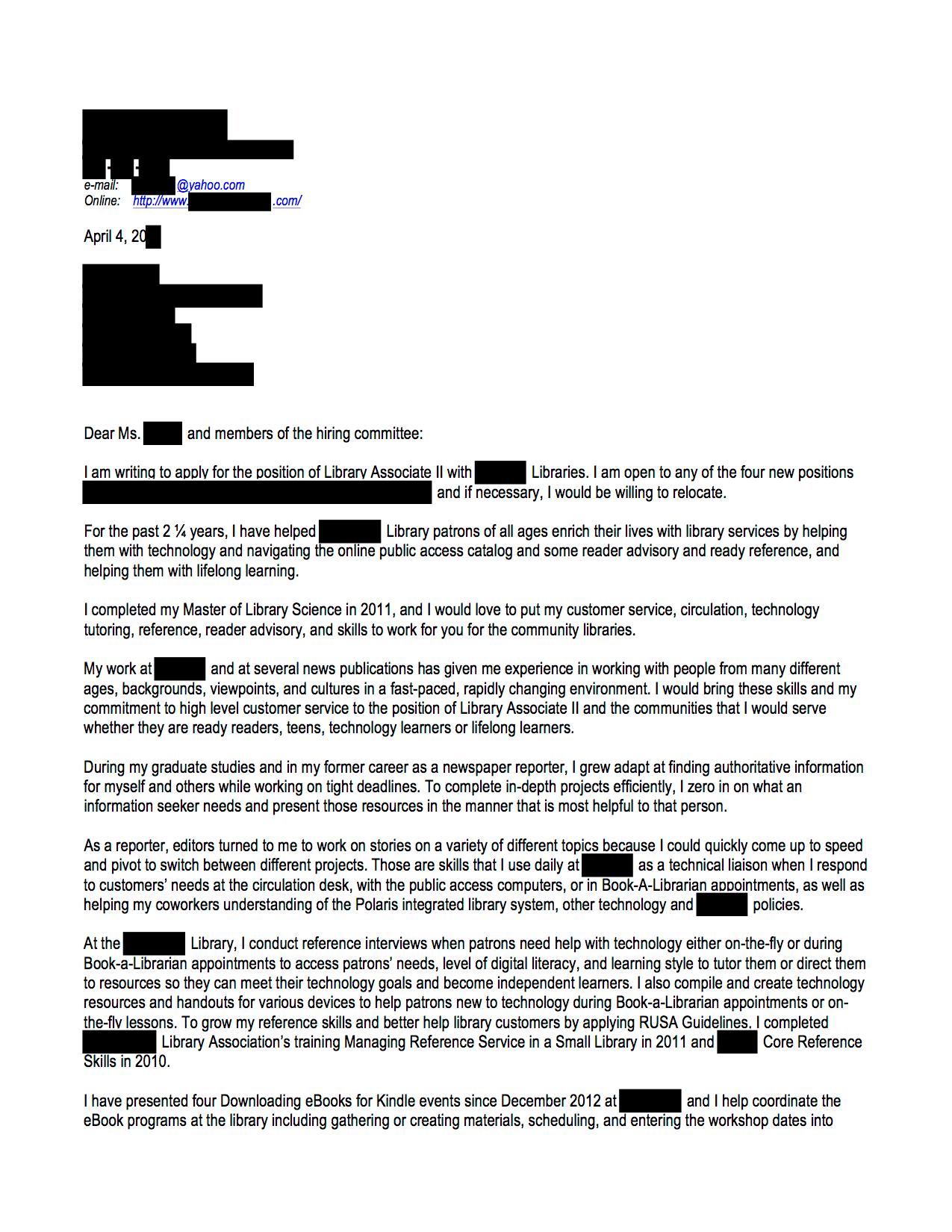 Public Services Open Cover Letters