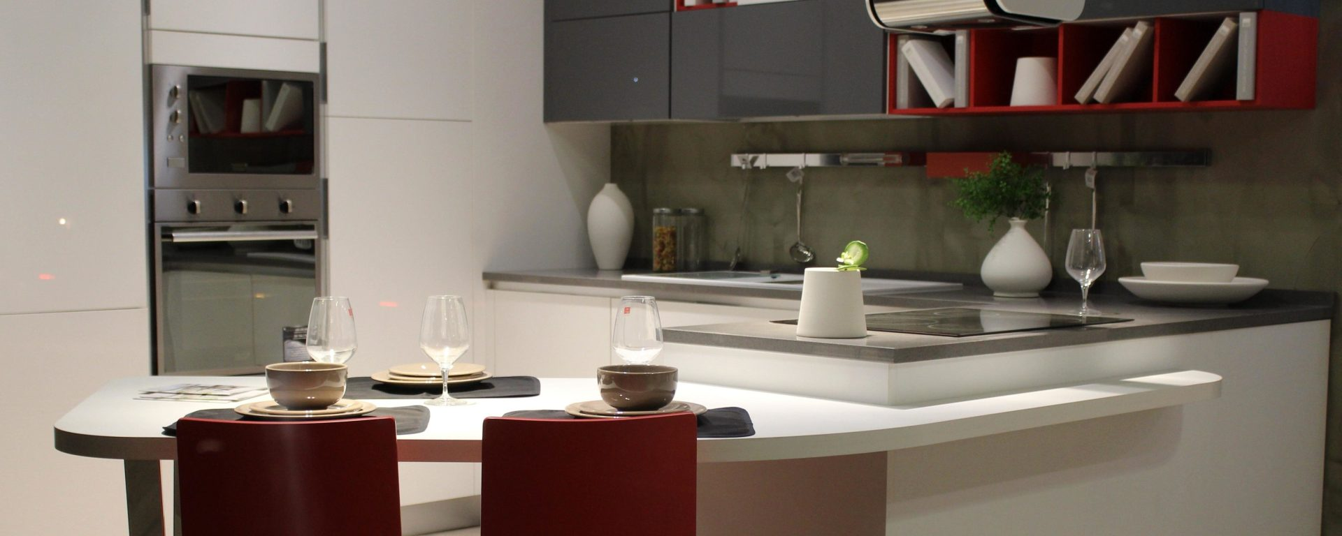 A modern kitchen with a microwave oven. Is the radiation of a microwave oven unhealthy?
