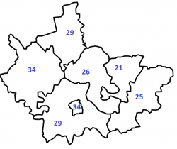 Map showing number of housing providers