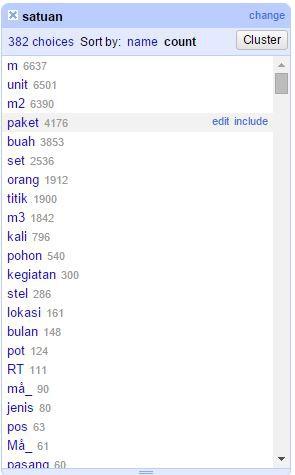 data screenshot