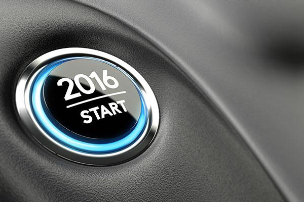 A 2016 start button.