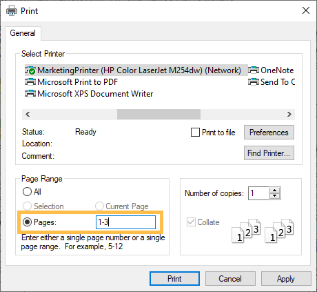 19.3 Print a Page Range in Reports