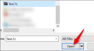 how to open 7z file