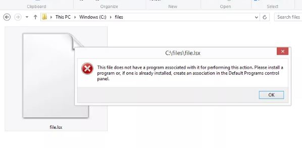 common xlsx file error