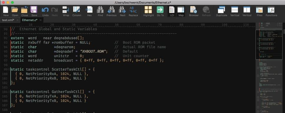 json file on mac