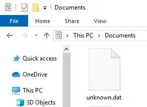dat file