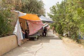 Christian girl in tent