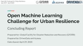 Open Cities AI Challenge -- concluding report