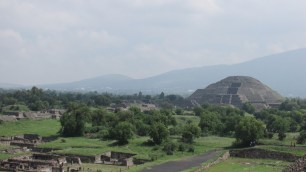 The Pyramid of the Moon as seen from the top of the Pyramid of the Sun, 2016.