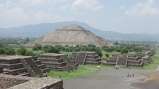 The Pyramid of the Sun, third largest ancient pyramid in the world, as seen from the Pyramid of the Moon, 2016.