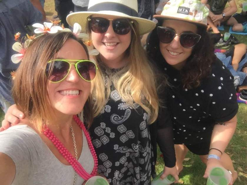 WOMAD music festival with two lovely Lees.